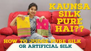How to Judge Pure Silk and Artficial Silk    Easy Way to find out    Shinjan & Debanjali