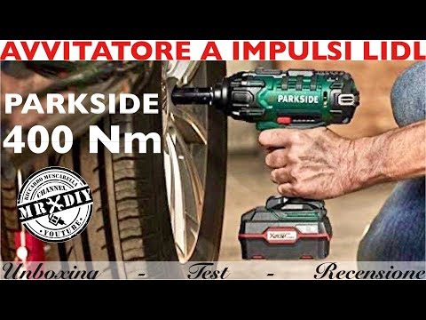 Avvitatore a IMPULSI parkside PASSK 20-LI A1 400 Nm. Lidl .smonta gomme.