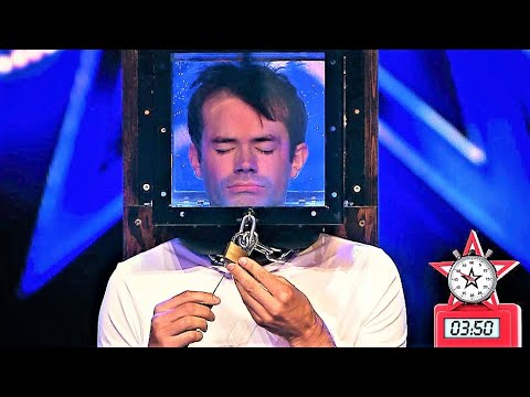 Locked up escape artist holds his breath for 5 minutes In Got Talent (видео)