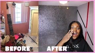 EXTREME ROOM MAKEOVER + GLITTER WALL