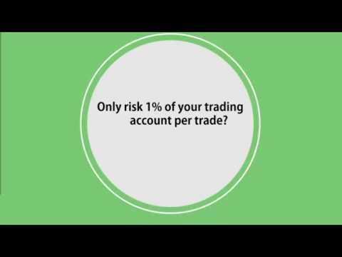 Forex Strategy — Only Risk 1%? Why?