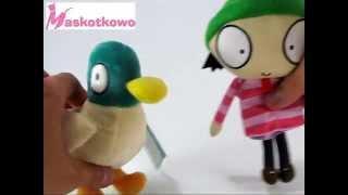 Maskotki Sara i Kaczorek - Sarah and Duck soft toys with sound
