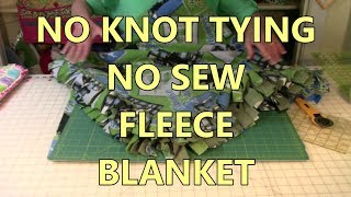No Knot Tying No Sew Fleece Blanket | The Sewing Room Channel