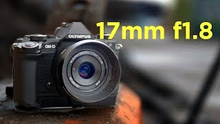 Olympus Zuiko Digital 17mm F1.8 Lens for Micro Four Thirds MFT Silver Bekas