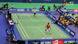 Lin Dan VS Anthony Ginting - 2015 Yonex Open Chinese Taipei