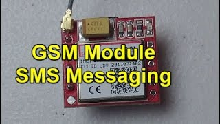 How to use a GSM module to send and receive SMS messages : SIM800L : AT Commands : Eye-On-Stuff