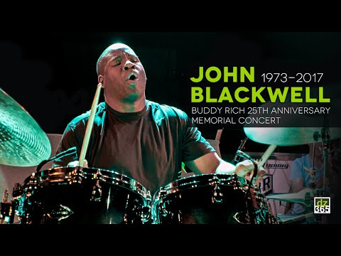 John Blackwell (1973-2017) Drum Solo - Rehearsals Buddy Rich 25th Memorial Concert