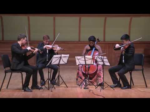 Another video of Yas quartet performing Langsamer Satz by A. Webern
