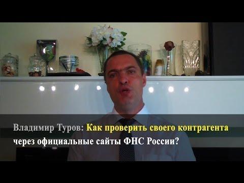 Как проверить своего контрагента через официальные сайты ФНС России? Владимир Туров.