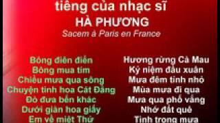 Tình Khúc Nhạc Sĩ HÀ PHƯƠNG (Sacem à Paris En France)