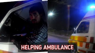 Biker Clears Way for An Ambulance to Save Life's! #helping #ambulance #emergency