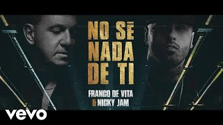 No Sé Nada de Ti (Letra) - Franco De Vita (Video)