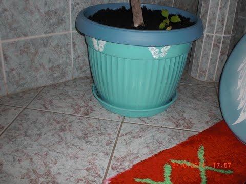 Upcycling - Alte Blumenkübel neu gestalten mit Acrylfarben