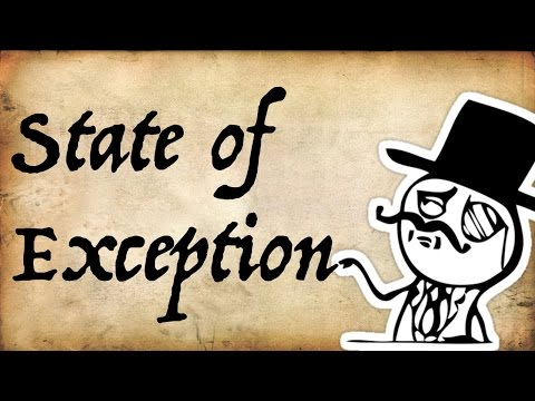 Political Philosophy: the State of Exception
