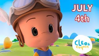 4th of july songs collection. Cleo and Cuquin Nursery Rhymes | Familia Telerin sing along for kids
