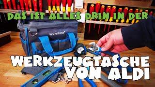 Was ist drin? Aldi - Workzone - Werkzeugtasche mit 13 Werkzeugen