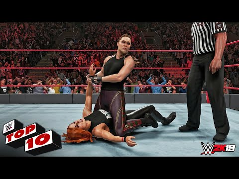 WWE 2K19 - Top 10 Raw Moments | March 4, 2019