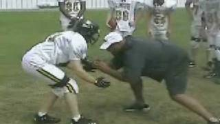 Football O Line training  How to block a bigger opponent | Part 4