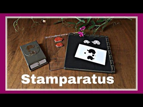 STAMPARATUS MIT SCHABLONE AUSSTANZEN UND STEMPELN DEUTSCH STAMPIN`UP! ANLEITUNG TUTORIAL