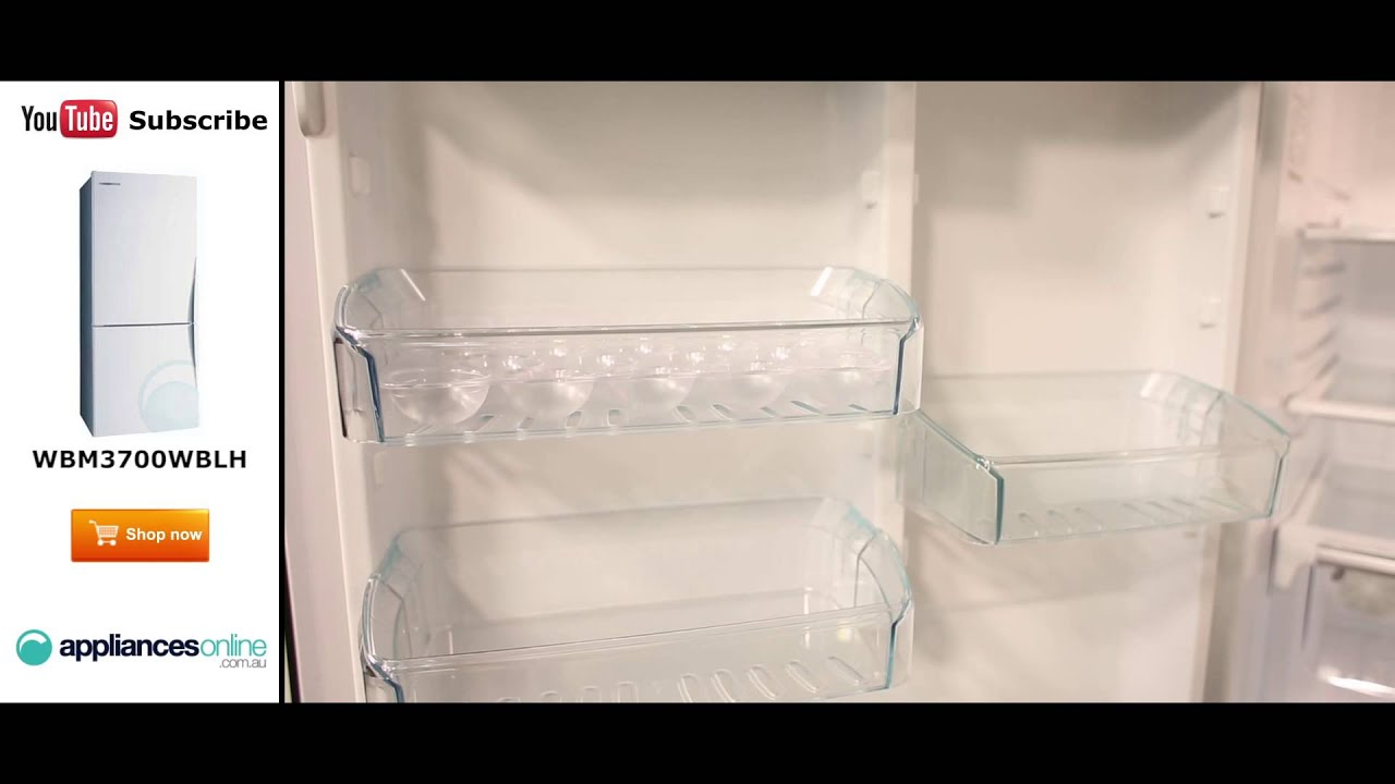 wbm3700wbl 370l bottom mount fridge this product is not available product video