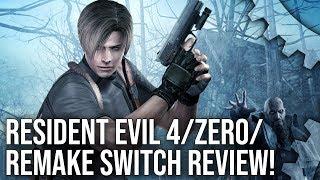 Resident Evil 4 Switch + Resident Evil Zero + Resident Evil Remake Analysis!