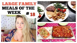 FAMILY MEAL IDEAS / BUDGET #18 /What we eat in a week / Large family meals dinners of week
