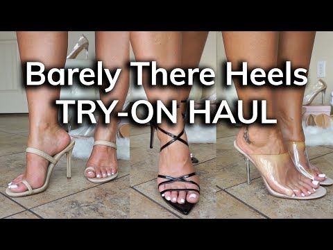 Barely There Heels Try-On Haul | Ruby Red