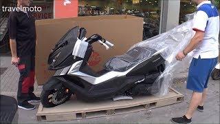 unboxing SYM CruiSym 300i shiny black special model