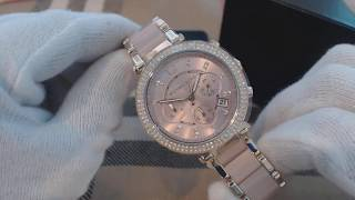 Womens Michael Kors Parker Chronograph Crystallized Watch MK6326