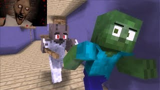 Monster School : GRANNY & FNAF & 3AM AT THE KRUSTY KRAB Horror Animations - Minecraft Animation