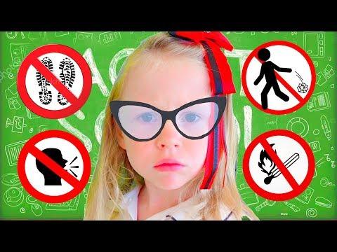 Настя и серии про правильное поведение видео
