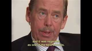 Václav Havel's recorded message of congratulations on ECP's tenth anniversary