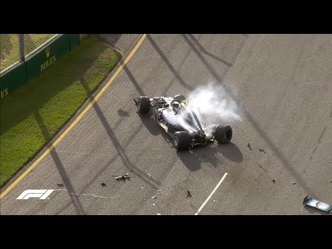 Bottas Crashes Out in Australia Qualifying 2018: All The Angles