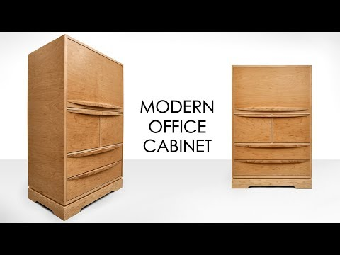 Making A Modern Office Cabinet - Big Build