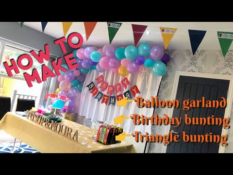Balloon Garland DIY Tutorial | Birthday Decorations