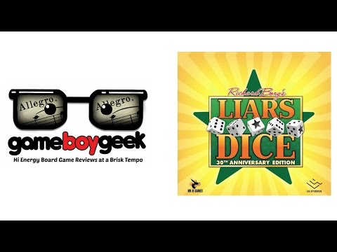 The Game Boy Geek's Allegro (2-min) Review of Liar's Dice (30th Anniversary edition)