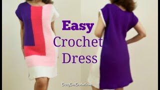 Easy Crochet Color Block Dress