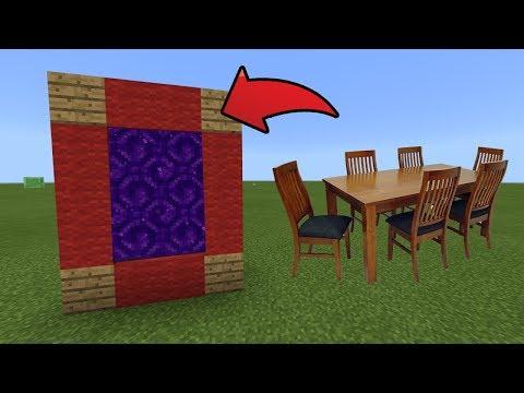 How To Make a Portal to the Vanilla Furniture Dimension in MCPE (Minecraft PE)