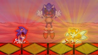 Tails Survived And Knuckles With Eggman Died!! Sonic.exe The Spirits Of Hell - Solo Survival