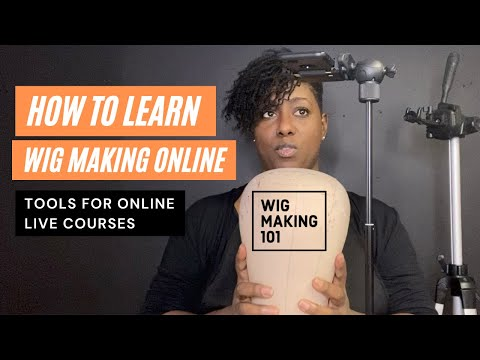 HOW TO LEARN ONLINE WITH WIGMAKING101 - Tools you need to take an online course. #onlinelearning