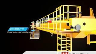 3D Animation Of Double Girder Overhead Crane