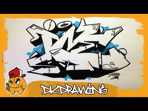 How to draw graffiti wildstyle letters - first steps for
