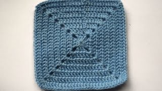 Плотный бабушкин квадрат крючком: способ 1
