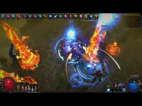 Path of Exile [3.8] T16 Elder guardians kill (Enki's Arc witch, Elemancer variant)