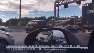 """На МКАДе от водителя """"сбежал"""" """"Ягуар"""""""