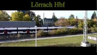 preview picture of video 'Lörrach Hbf, Regio S-Bahn S6'