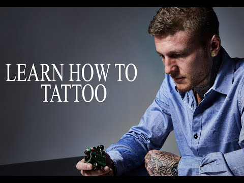 LEARN HOW TO TATTOO: TATTOO LESSON 1 STRAIGHT LINE (PART 1)