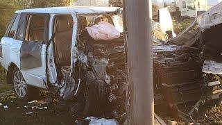 Ужасное ДТП (Range Rover) с пострадавшими на Харьковской площади 20.08.2016
