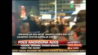 Polis anonsuna alkış - Gezi Parki Eyleminde..!