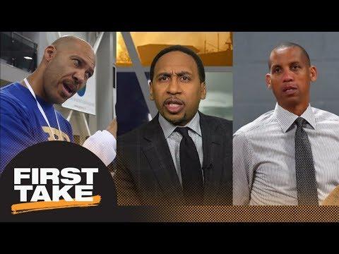 Stephen A. sides with Reggie Miller: Magic Johnson should speak up on LaVar Ball | First Take | ESPN